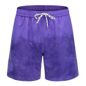 Herren Aquarellwechsel Badehose Strandhose Warme Farbwechsel Shorts Größe:M,Farbe:Rosa