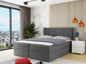 Mirjan24 Boxspringbett Rebos, Ehebett mit zwei Bettkästen, Doppelbett mit Topper (Manila 16, Größe: 180x200 cm)