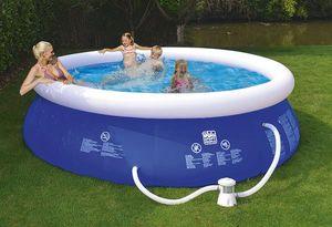Schwimmbecken Happy People Quick Up Pool Set mit Filterpumpe Ø360x76cm