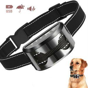 1x Anti-Bell Wiederaufladbares Hundetraining Halsband Anti-Bark Safe Antibell Hundetrainer Ton Vibration