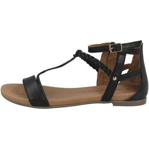Tamaris Damen Sandale schwarz 1-1-28043-26 weit Größe: 41 EU