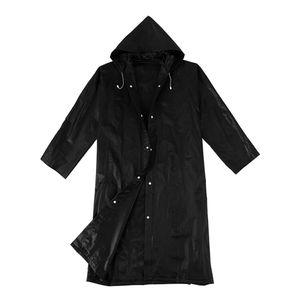 Uni EVA Wasserdichter Regenmantel mit Kapuze, Knielanger Regenmantel