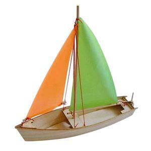 Holz 3D DIY Segelboot Boot Segelschiff Modell Bausatz für Kinder Erwachsene