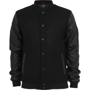 Urban Classics Oldschool College Jacket, Größe: L; Farbe: Black/Black