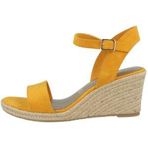 Tamaris Damen Sandalen Sandaletten Keilabsatz 1-28300-26, Größe:41 EU, Farbe:Gelb