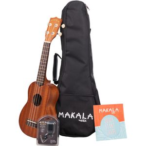 Kala KA MK S PACK RW Soprano Ukulele + Clip-On Tuner + Gig Bag