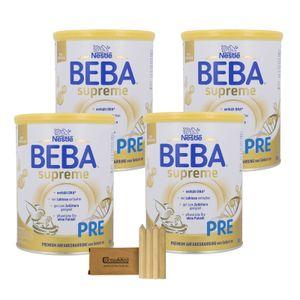 Nestlé BEBA SUPREME Pre - 4x800g mit Stifte-Minibox
