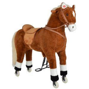 Pink Papaya XXL Reitpferd auf Rollen Amigo, 90cm Spielpferd, fahrendes Schaukelpferd