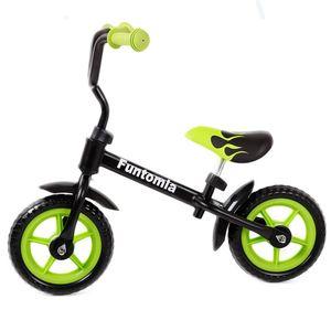 Farbe Schwarz/Grün FunTomia® Laufrad Lernrad Fahrrad  höhenverstellbar - 2280