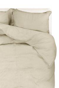 Passion for Linen | Luxus Bettbezug Remy | Leinen und Perkal Baumwolle, Größe:200-220 cm, Farbe:Marble