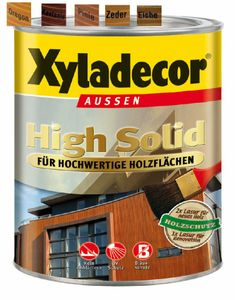 Xyladecor Holzschutzlasur 5 L Eiche High Solid Dickschichtlasur