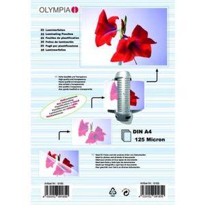 Olympia Laminierfolien DIN A4 125 micron (25 Stück)