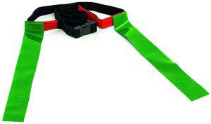 Precision tag-Gürtel Rugby verstellbarer Polyester grün/schwarz