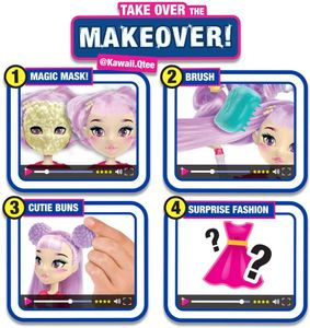 FailFix @Kawaii.Qtee Total Makeover Doll Pack, 8.5 inch Fashion Doll with Long P