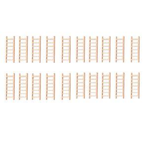20x Micro Holz Leiter Mini Leitern für Garten Bonsai Haus Dekoration
