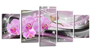 200 x 100 cm Bild auf Leinwand Orchidee rosa 6340-SCT deutsche Marke und Lager  -  Die Bilder / das Wandbild / der Kunstdruck ist fertig gerahmt