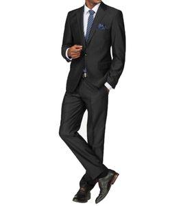 CLASS INTERNATIONAL Anzug klassischer Herren Business-Anzug Einreiher Anthrazit, Größe:56