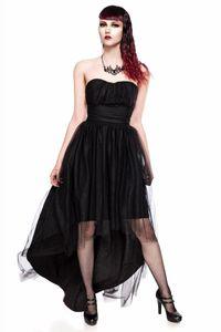 Trägerloses Tüll-Kleid, Farbe: Schwarz, Größe: XL