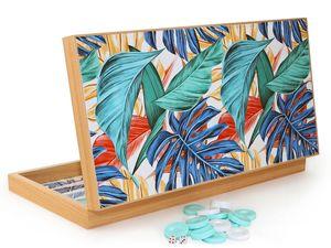 Luxus Backgammon Tavla XXL Gesellschaftsspiele Familienspiel Tropical