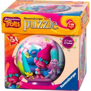 Trolls Puzzleball 54 Teile/ 7cm Durchmesser sortierter Artikel