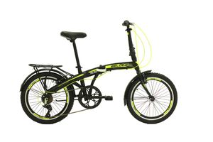 20 Zoll Camping Klapprad Klapp City Fahrrad Cityfahrrad Klappfahrrad Faltrad Rad Bike 6 Shimano Gang Belx5 Grün