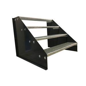4 stufige freistehende Stahltreppe Standtreppe Breite 80cm Höhe 84cm Anthrazit