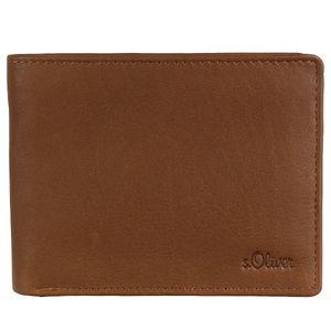 s.Oliver Leder Geldbörse Portemonnaie Geschenkset 97.811.93.5641, Farbe:Cognac