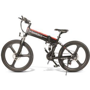 SAMEBIKE LO26 E-BIKE, E Bike Herren, Ebike Mountainbike, Elektrofahrrad, Pedelec——250W/40V,Max 25km/h,Schwarz