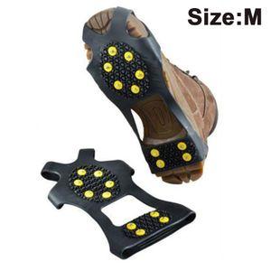 Schuhspikes mit 10 Spikes Schuhkrallen für Schuhe im Winter Outdoor Anti Rutsch Steigeisen für Damen und Herren Schuh Spikes für Bergschuhe