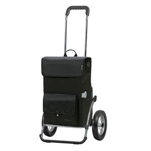 Sondermodell Original Andersen Royal Shopper (Stahlgestell) mit Metallspeichenrad 25 cm und 45 Liter Einkaufstasche Asta schwarz mit Kühlfach
