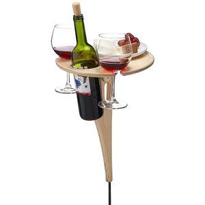 Weinregal mit Tisch , Faltbare Portable Outdoor Wein Tabelle Picknick Tisch Weingläser Hölzerne Weinregal Ideen Faltbar Biertisch