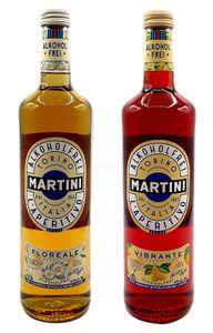 Martini Aperitiv Set - 1x Martini Vibrante Alkoholfrei 0,75L + 1x Martini Floreale Alkoholfrei 0,75L