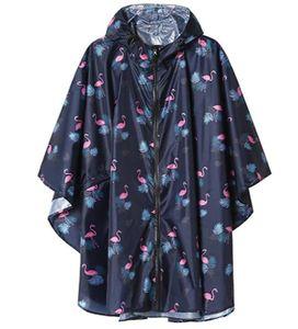 Summer Regen Poncho Jacke Mantel für Erwachsene mit Kapuze wasserdicht mit Reißverschluss im Freien
