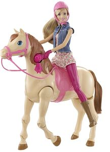 Mattel CMP27 Reitpferd und Puppe
