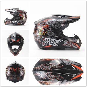 Megacooler Crosshelm Mejia Helm für Kinder schwarz Größe S; Kinderhelm Motocrosshelm