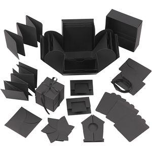 Explosion Box, Schwarz, Größe 7x7x7,5+12x12x12 cm, 1 Stck.