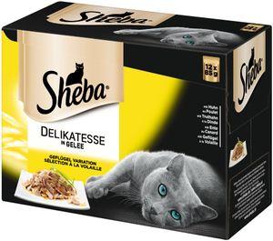 Sheba Beutel 12x 85g-Delikatesse in Gelee - Geflügel Variation