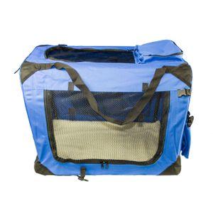 Hundetransportbox Transportbox Reisetasche Transporttasche Gr. XXL Hundebox blau