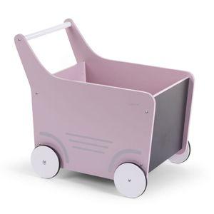 CHILDHOME Holz-Spielzeugwagen Rosa WODSTRW