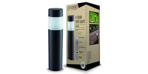 LED LOVERS 4er Set LED Solarleuchten für Garten, Außenbeleuchtung mit Erdspieß und Sensor, Gartenlampe Aussenleuchte wasserdicht, energiesparend, Höhe 27 cm