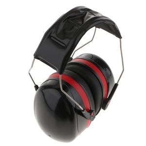 professionelle Gehörschutz schalldichte Kopfhörer Ohrenschützer Anti-Noise schwarz + rot Farbe Schwarz + Rot