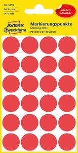 AVERY Zweckform Markierungspunkte ablösbar 18 mm rot 96 Stück