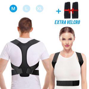 SGODDE Geradehalter zur Haltungskorrektur,Haltungskorrektur Rücken,Rückentrainer Schulter Rückenstütze,Schultergurt gegen Nacken -und Rücken Schulterschmerzen für Damen Herren(mit 2 Schulterpolster) Größe: M