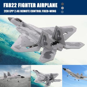 FX822 F-22 Raptor Modell Kampfflugzeug 2CH EPP 2.4G Fernbedienung Flugzeug Festfluegel RTF Spielzeug