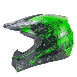 Racing Crosshelm für Kinder grün Motocrosshelm Helm Kinderhelm Endurohelm S