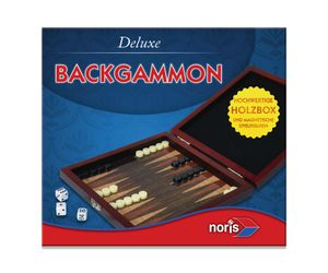 Noris Spiele Deluxe Reisespiel Backgammon; 606108004