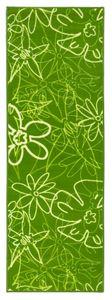 Küchenläufer waschbar 67 x 200 cm Teppichläufer Grün Küchenmatte Blumen Läufer rutschfest