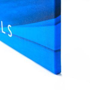 Tulup® Leinwandbild - 125x50 cm - Wandkunst - Drucke auf Leinwand - Leinwanddruck  - Landkarten & Flaggen - Mehrfarbig - Weltkarte