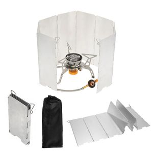 Aluminium Windschutz für Campingkocher faltbar Gaskocher Outdoor Kocher Alu Falt-Windschutz