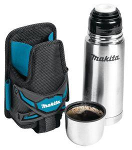 Makita E-05599 Thermoflasche mit Gürteltasche | 330 ml Edelstahl Thermoskanne
